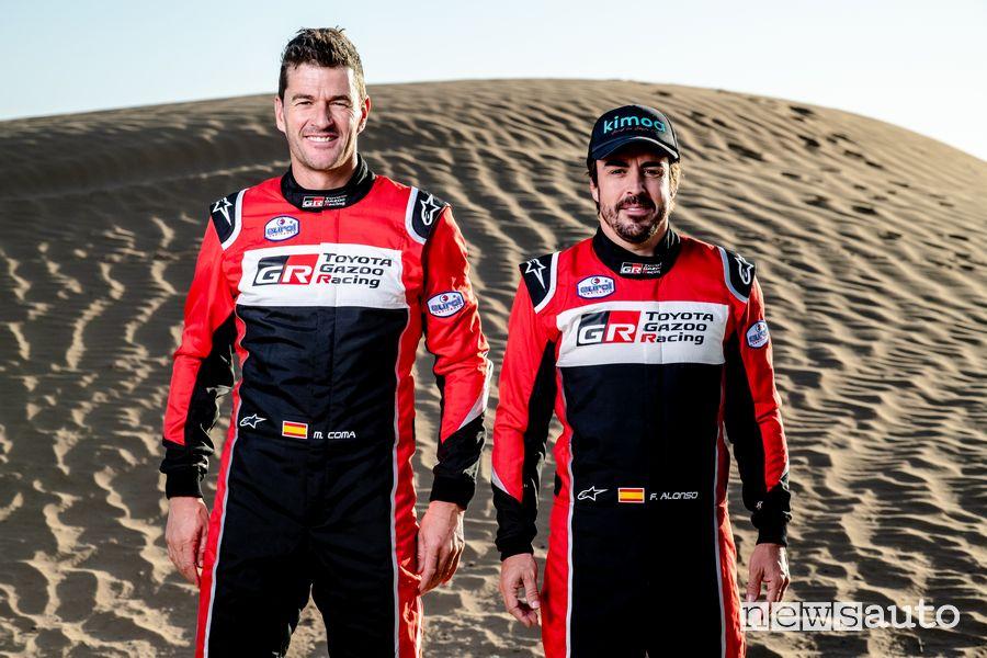 Marc Coma e Fernando Alonso alla Dakar 2020 con la Toyota