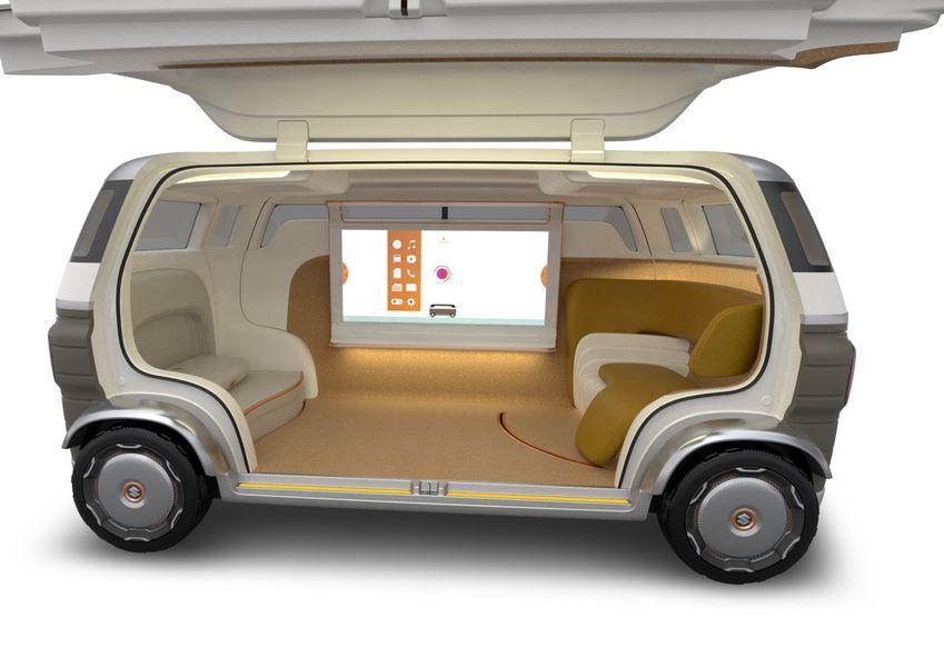 Abitacolo concept Suzuki Hanare a guida autonoma