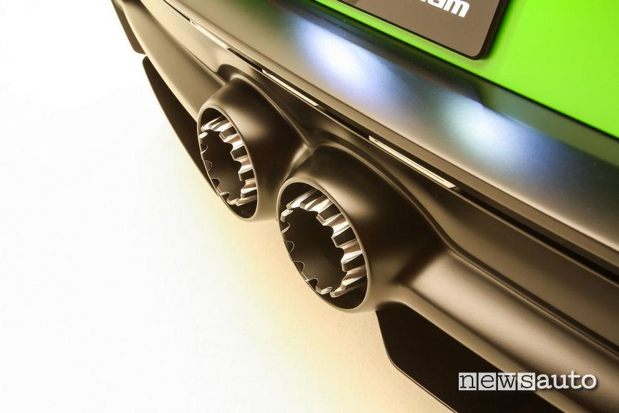 Scarico particolare della Toyota GR Supra Wasabi Concept