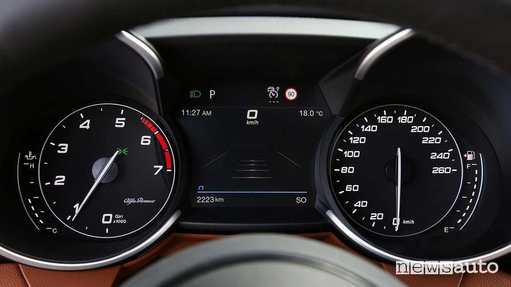 Quadro strumenti Alfa Romeo Giulia 2020