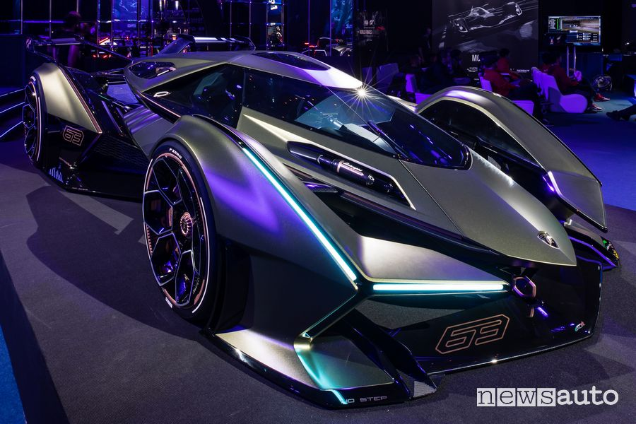 Lamborghini Lambo V12 Vision Gran Turismo alle finali mondiali Gran Turismo Championships 2019