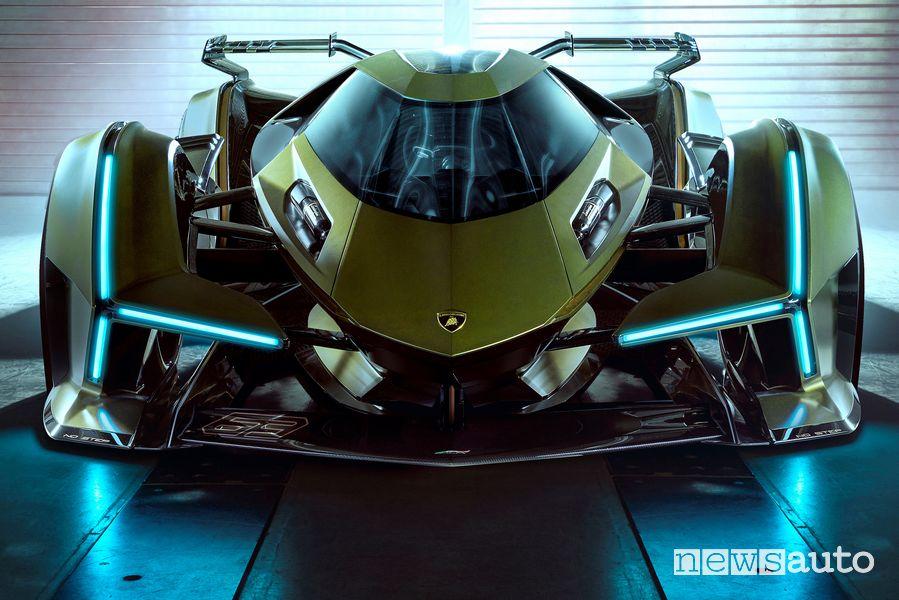Vista anteriore Lamborghini Lambo V12 Vision Gran Turismo