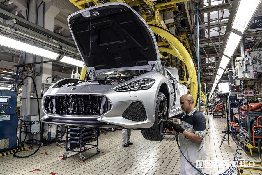 Montaggio ruote produzione Maserati GranTurismo Zéda