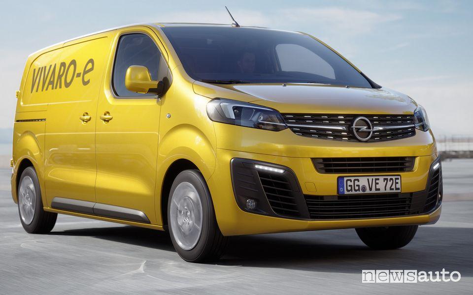 Opel Vivaro-e elettrico