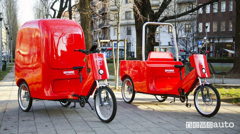 Cargo bike Repower LAMBROgio e LAMBROgino