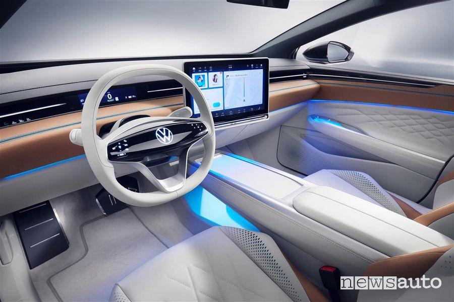 Volante, plancia strumenti Volkswagen ID. Space Vizzion
