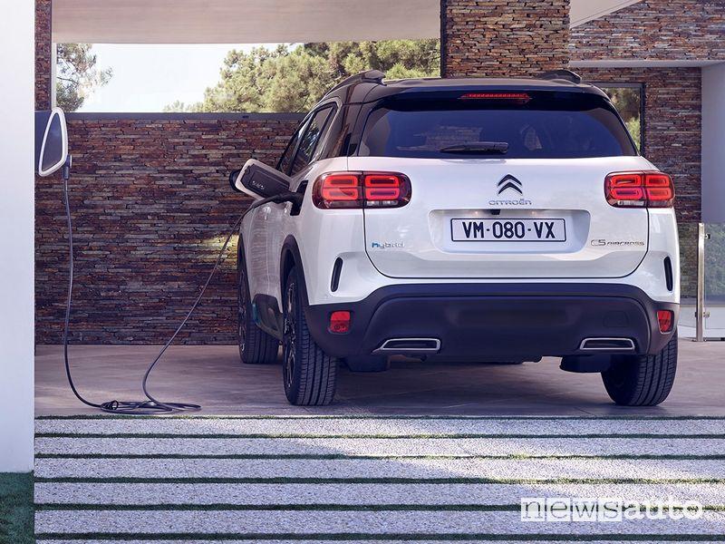 Ricarica da wallbox domestica Citroën C5 Aircross Hybrid plug-in