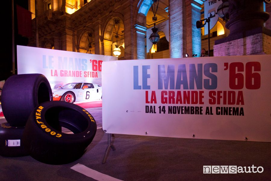 gomme Goodyear Ford GT40 film Le Mans 66 a Roma alla prima