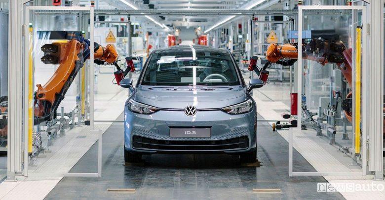 Produzione Volkswagen ID.3 nel sito di Zwickau