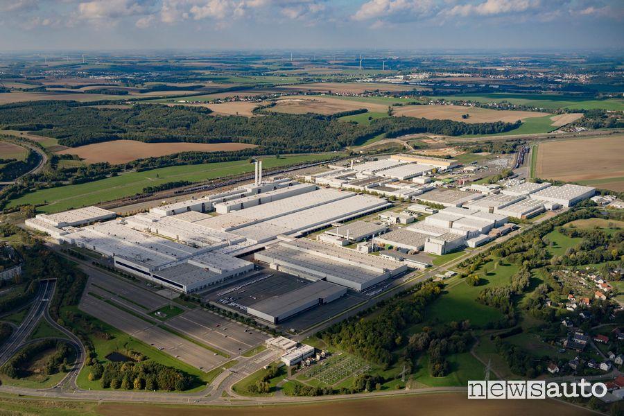 Vista dall'alto della fabbrica Volkswagen di Zwickau