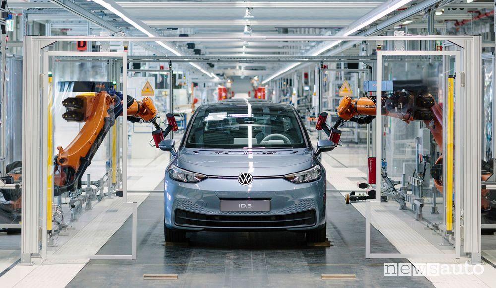 Produzione Volkswagen ID.3 sito di Zwickau