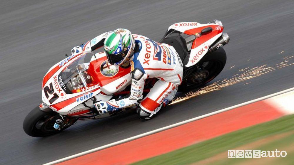 Troy Bayliss Ducati 999-07 SBK record della pista moto Vallelunga