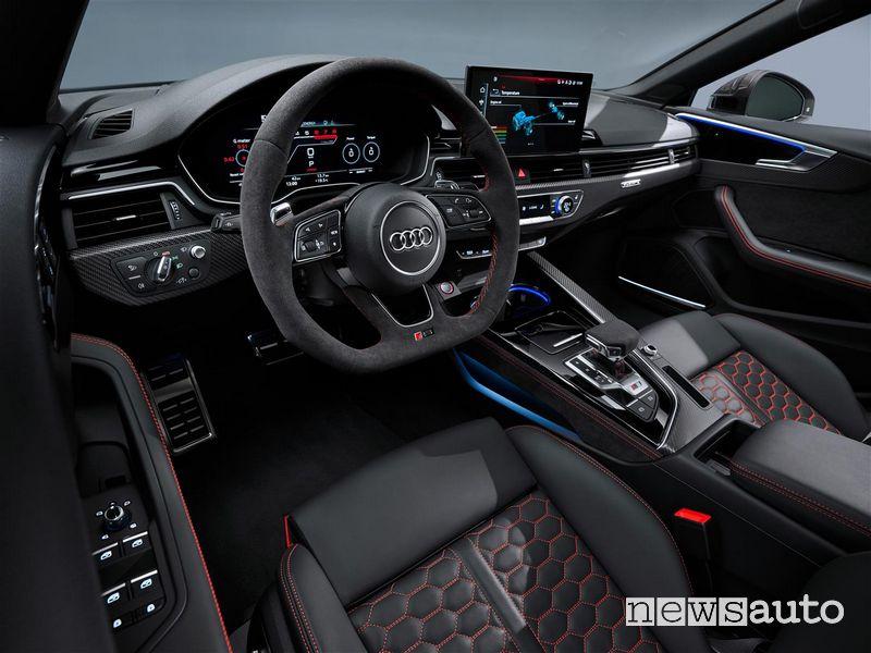 Interni, volante sportivo Audi RS5 Sportback