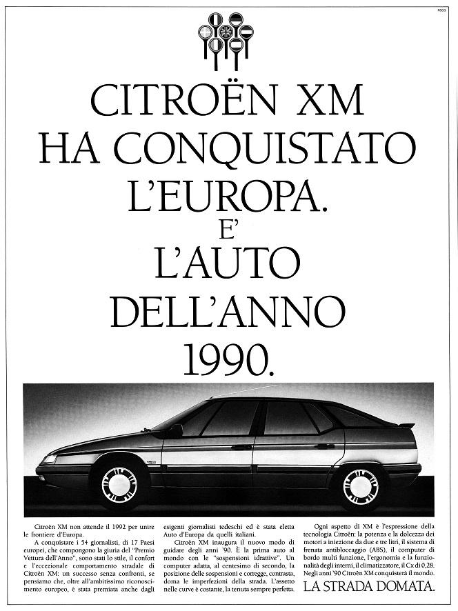 La Citroën XM è stata Auto dell'Anno 1990