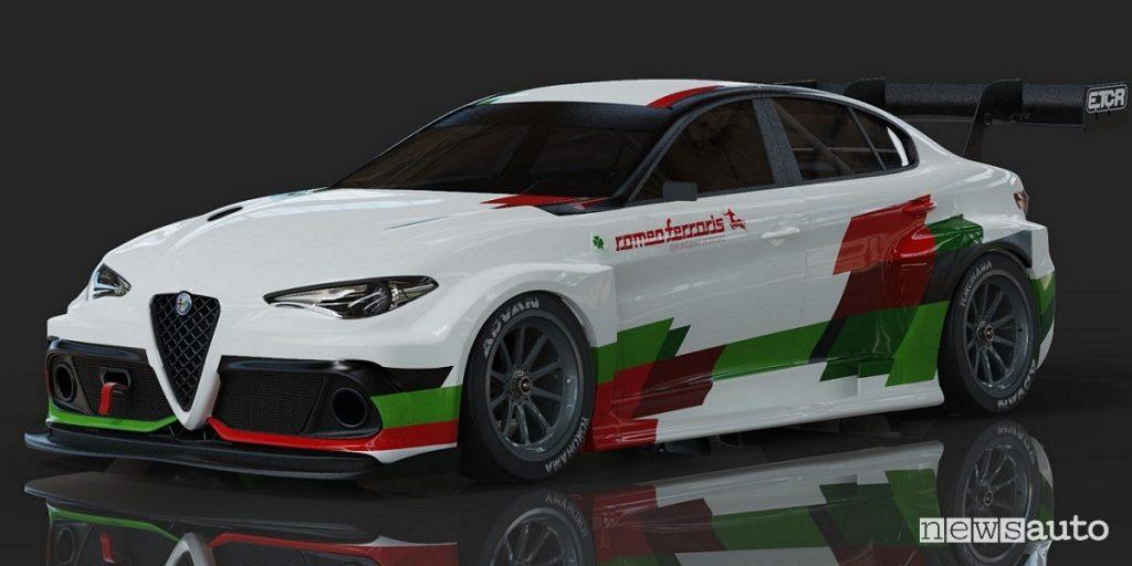 Alfa Romeo Giulia elettrica ETCR