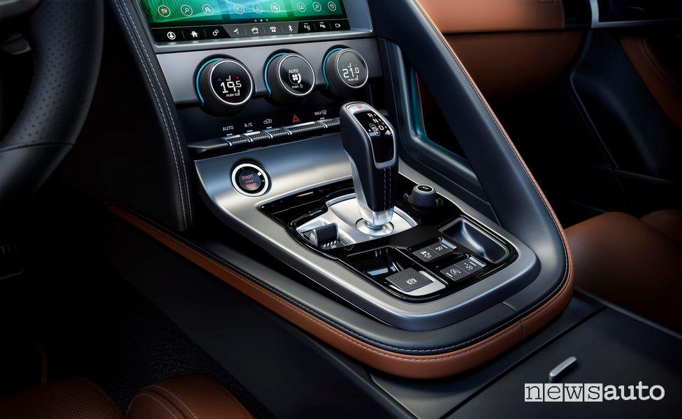 Consolle centrale lava cambio automatico Jaguar F-Type R 2020