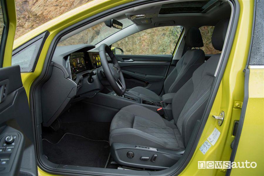 Sedili anteriori Volkswagen Golf 8 gialla