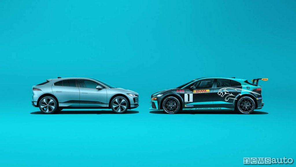 Jaguar I-Pace vs I-Pace da corsa racing