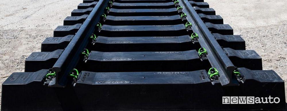 traversine dei binari Greenrail gomma pneumatici usati