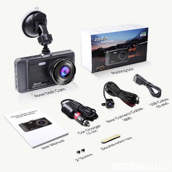 Componenti della Dash Cam a doppia telecamera