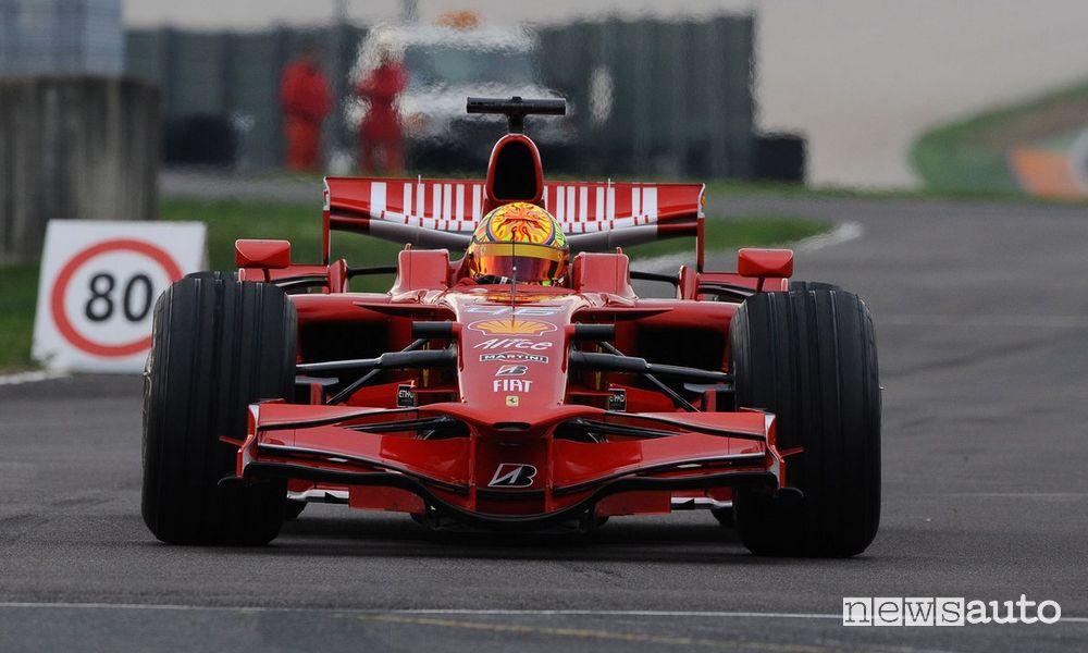 Valentino Rossi al volante della Ferrari F1 F2008