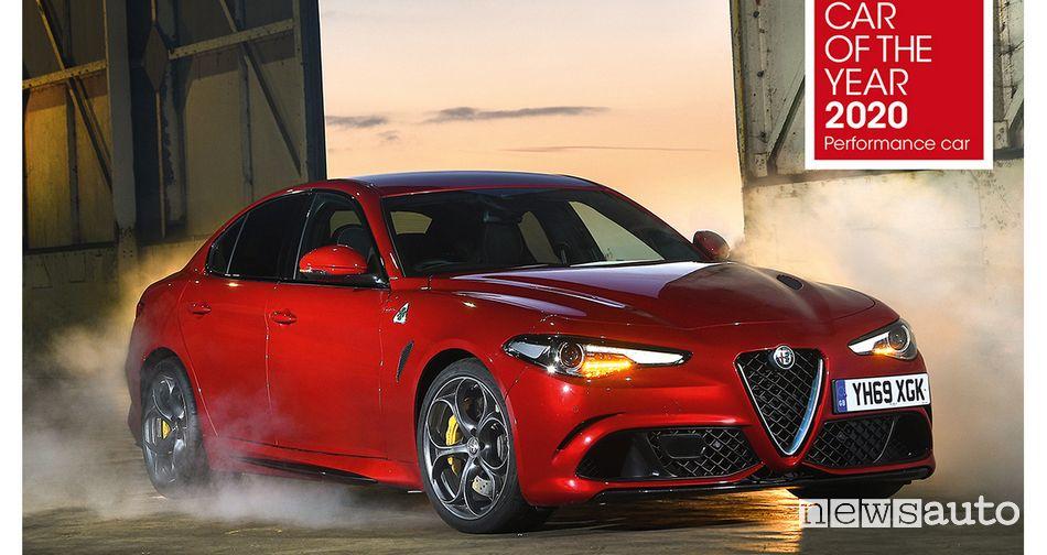 Alfa Romeo Giulia Quadrifoglio è Performance Car of the Year 2020
