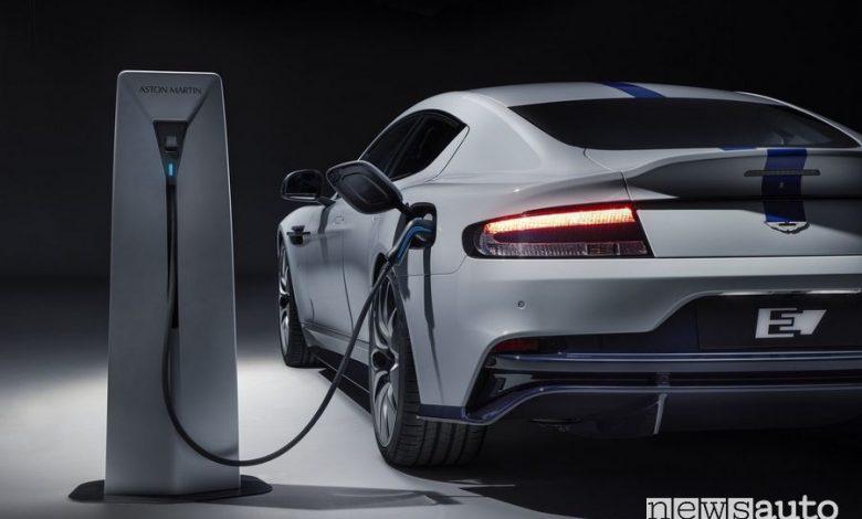 Ricarica da colonnina Aston Martin Rapid E auto elettrica