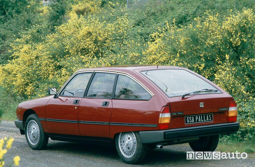 Vista posteriore Citroën GSA Pallas del 1985