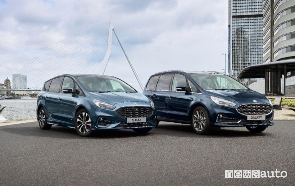 Auto ibride Ford S-MAX Hybrid e Galaxy Hybrid