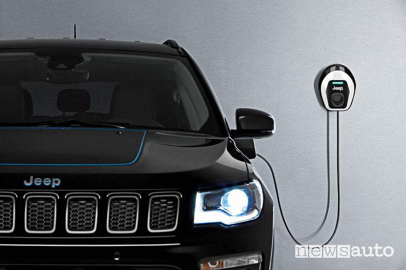 Ricarica da wallbox Jeep Compass 4xe ibrida plug-in First Edition