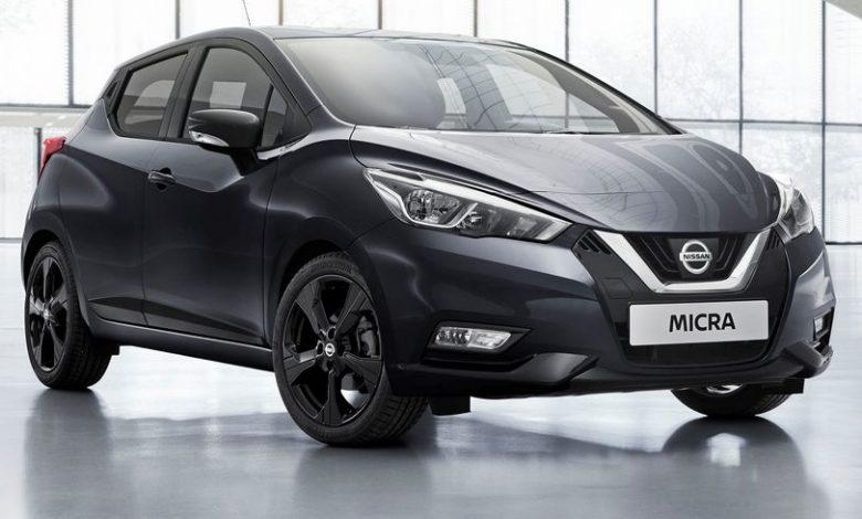 Vista di profilo Nissan Micra N-Tec