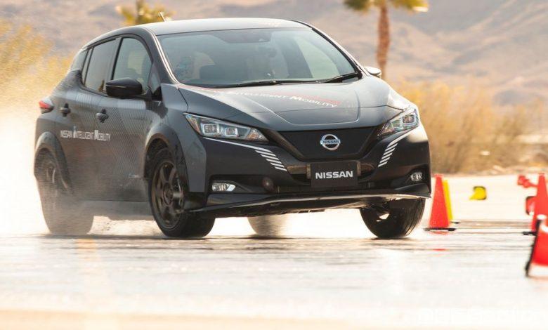 Trazione integrale Nissan e-4ORCE auto elettriche