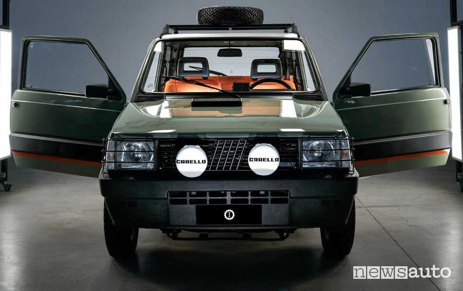 Fiat Panda 4x4 Pandina Jones elettrica retromod