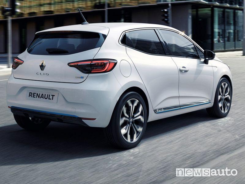 Vista posteriore Renault Clio E-TECH