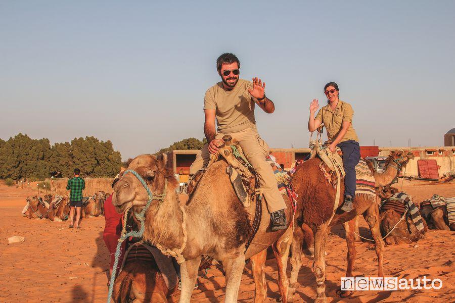 Una passeggiata sul cammello non poteva mancare!