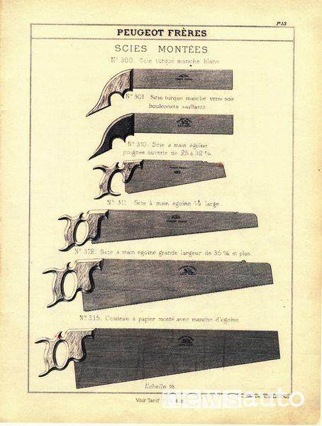 leone Peugeot lama delle seghe 1850