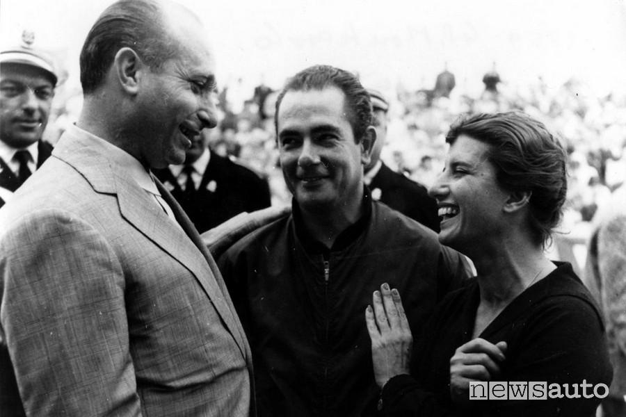 Maria Teresa De Filippis e Juan Manuel Fangio