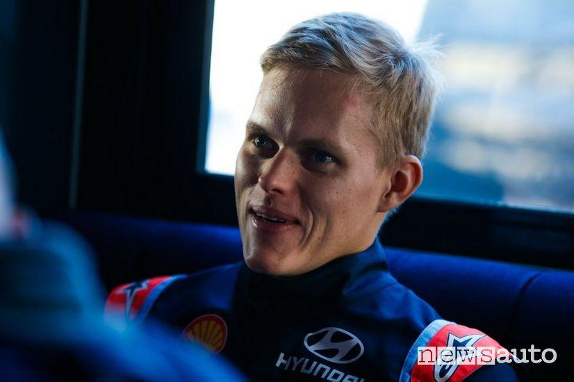 Ott Tanak pilota rally Hyundai Motorsport WRC 2020