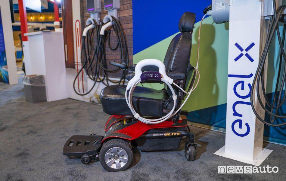 ricarica sedie rotelle elettriche da una colonnia Enel X