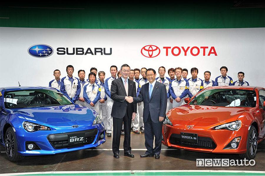 Toyota GT86 e Subaru BRZ