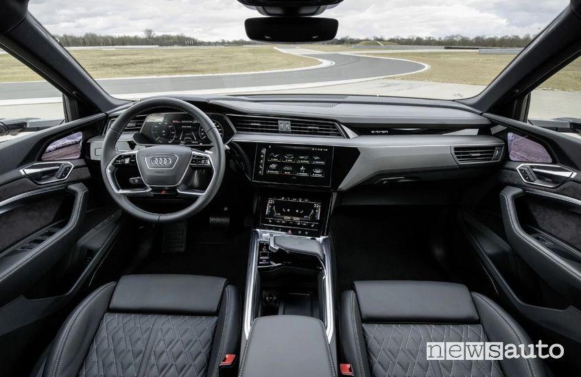 abitacolo Audi e-tron S Sportback