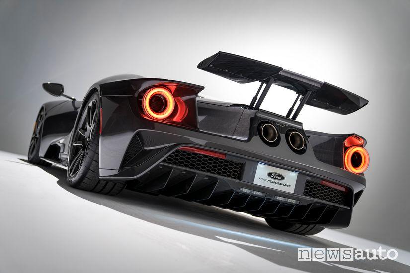Scarico posteriore Akrapovic Ford GT 2020 Liquid Carbon