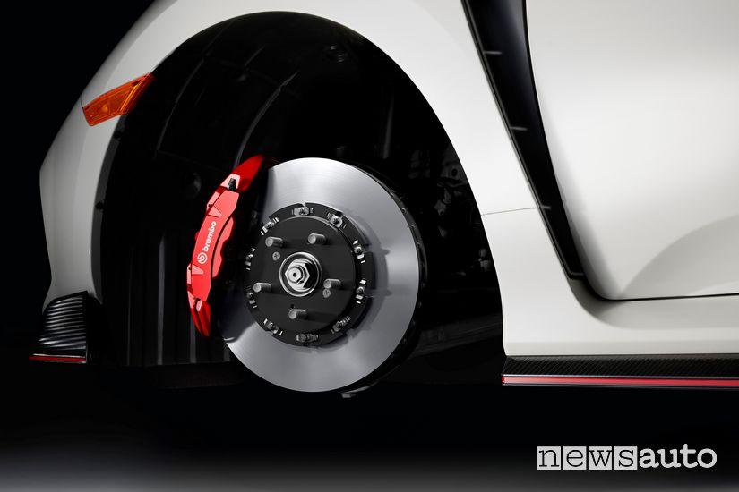 Nuovo impianto freni a disco flottante da 350 mm by Brembo sulla nuova Honda Civic Type R 2020