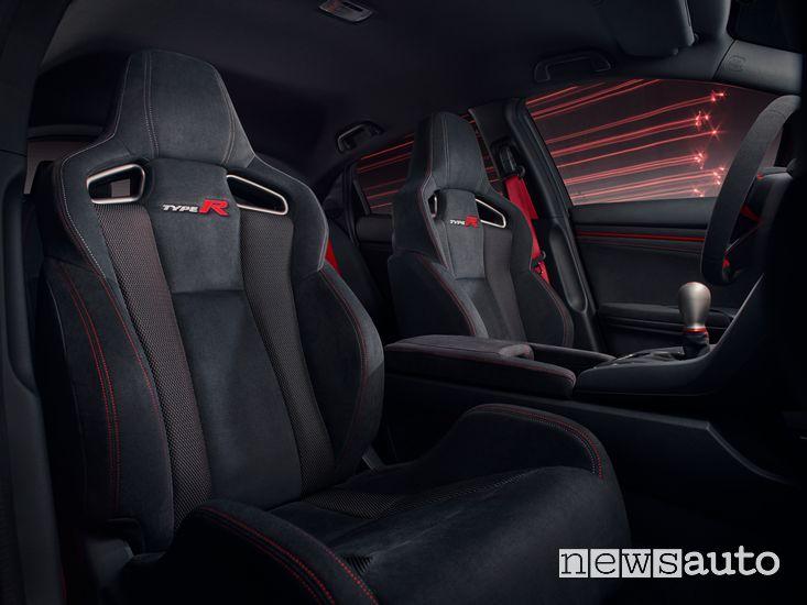 Sedili anteriori abitacolo Honda Civic Type R Sport Line