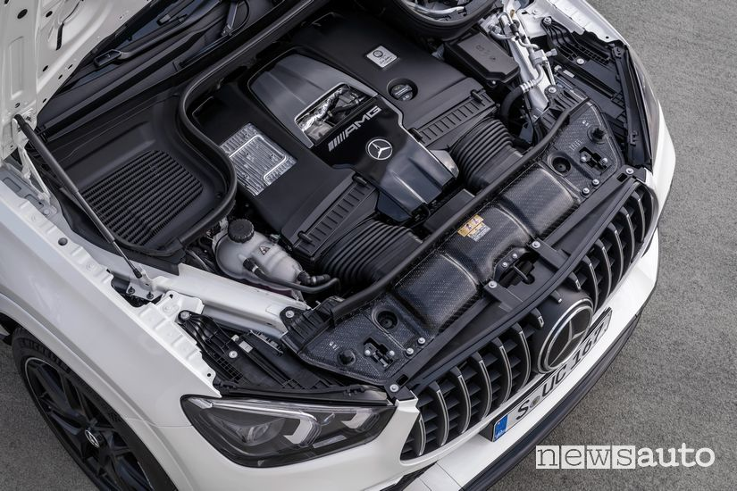 Vano motore V8 biturbo Mercedes-AMG GLE 63 S 4MATIC+ Coupé
