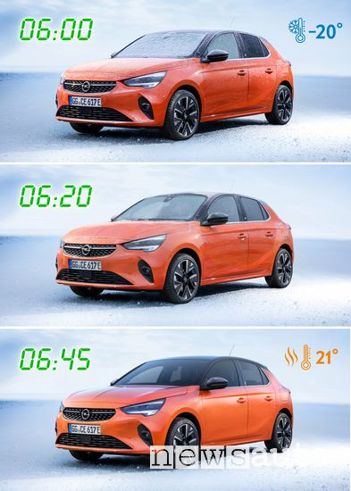 riscaldamento gestito a distanza Opel Corsa-e elettrica