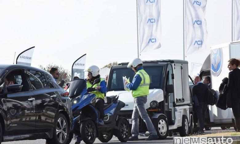 Quadricicli elettrici al Poste Motor Day di Vallelunga