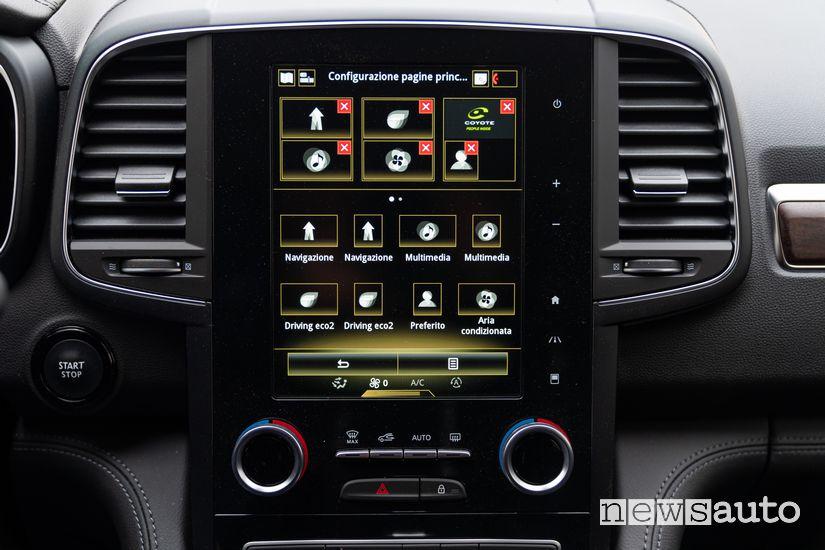 Touch screen verticale infotainment Renault Koleos Initiale Paris