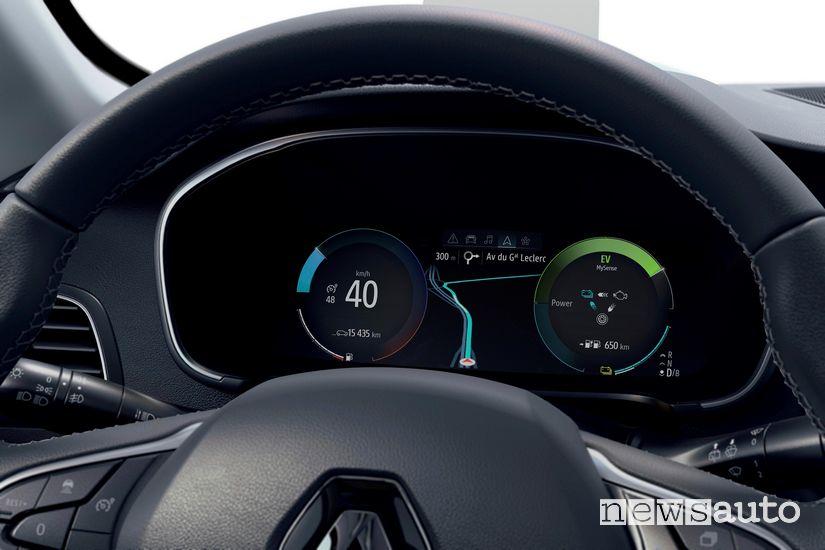 Quadro strumenti digitale Renault Megane E-Tech Plug-in