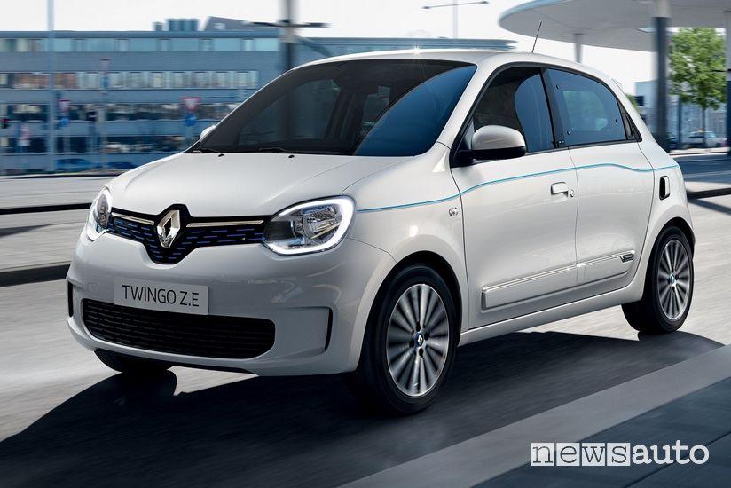 Vista di profilo Renault Twingo Z.E.